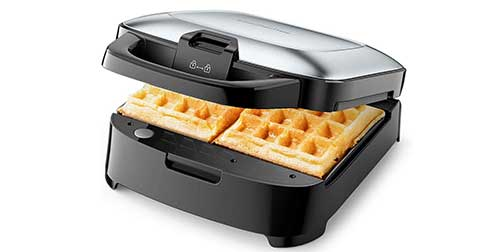 Elechomes Belgian Waffle Maker with Removable Plates