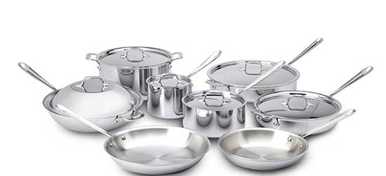 All-Clad 401716 Stainless Steel Tri-Ply Bonded Cookware Set