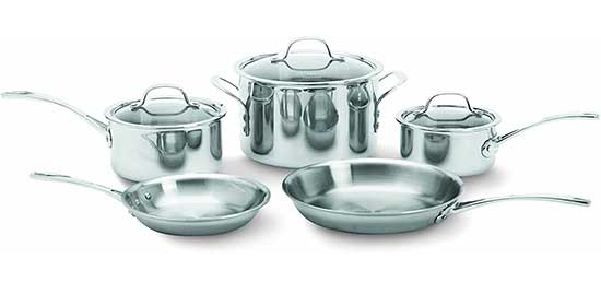 Calphalon 1767952 Tri-Ply Stainless Steel 8-Piece Cookware Set