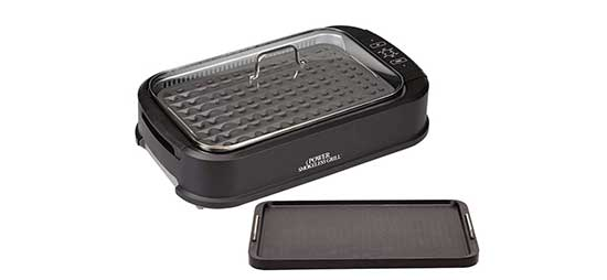 PowerXL Smokeless Grill with Tempered Glass Lid Griddle Plate