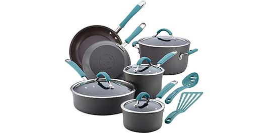 Rachael Ray 87641 Cucina Hard Anodized Nonstick Cookware Set