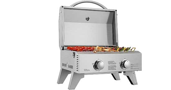 VIVOHOME Tabletop Stainless Steel 2-Burner Gas Grill
